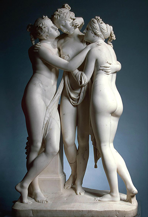 Antonio Canova's statue The Three Graces (1814–1817). Photo by: CC BY-SA 3.0.