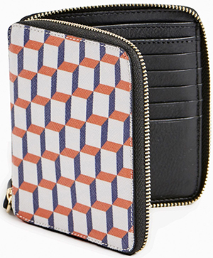Pierre Hardy women's White & blue wallet Perspective Cube print on coated canvas: €270.