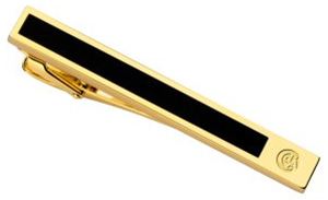 Caran d'Ache Black Lacquered Gilded Gold Tie Bar: US$260.