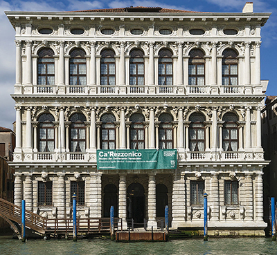 Ca' Rezzonico, Dorsoduro 3136, 30123 Venice, Italy designed by Baldassare Longhena. Photo by By Didier Descouens.