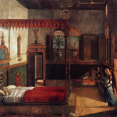 The Dream of St. Ursula (1495) by Viittore Carpaccio.