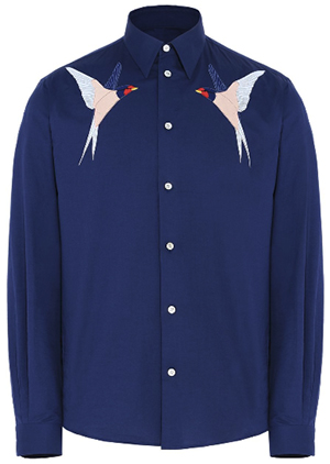 Stella McCartney Ink Embroidered Cotton men's Shirt: US$795.