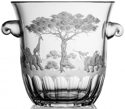 Varga Art Crystal Safari clear champagne bucket: €748.