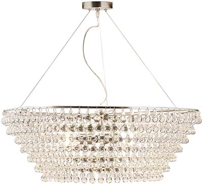 The White Company Glass Orb Chandelier Large Ceiling Light - Clear: £750.