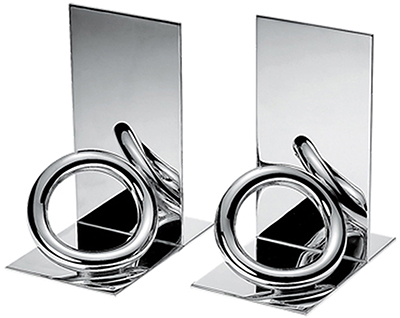 Christofle Vertigo silver plated bookends: US$680.