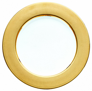 Christofle Gilded Porcelain Guilloché Charger: US$225.