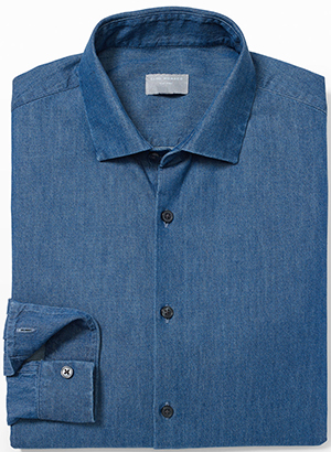 Club Monaco men's Slim Spread Indigo Shirt.