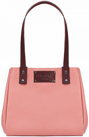ColourField Company small handbag salmon: £70.