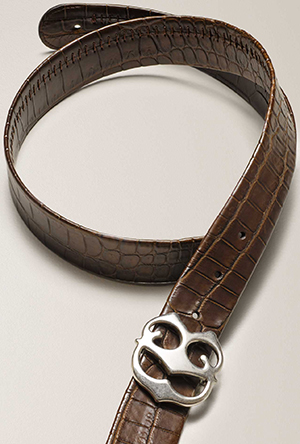 Connelly men's CB Buckle Crocodile Belt.