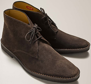 Connelly men's suede driving boots.