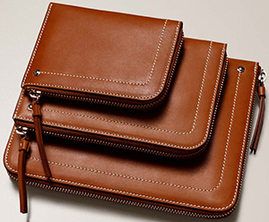 Connelly men's Leather Half Zip Wallets.