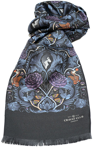 Cravat Club Hidden Curiosities Men's Printed Silk Scarf: £160.