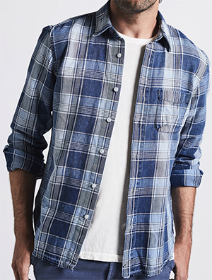 Current / Elliott men's Classic Fit Single Pocket Shirt: US$238.