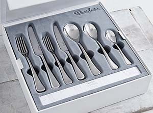The White Company Symons Cutlery – Set Of 42 - Silver: £280.
