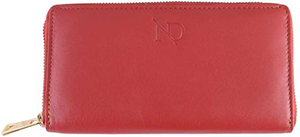 N'Damus London Gwenevere Red Zip Purse: £50.