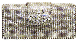 David Jeffrey Austrian Crystal women's Hardcase Clutch: US$289.