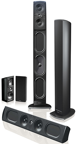 Definitive Technology Mythos Series speakers.