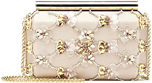 Oscar de la Renta Bisque Embroidered Satin Saya Minaudière: US$1,990.