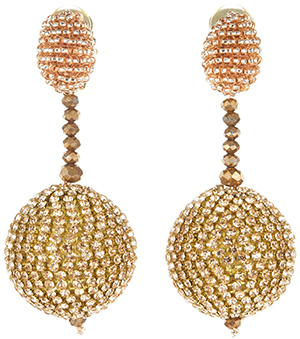 Oscar de la Renta Sorbet Beaded Drop Earrings: US$495.