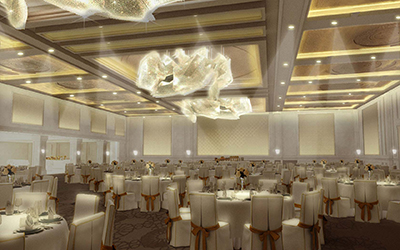 Delta Lighting Solutions Hyatt Regency Hotel Refurbishment, Ballroom/Banquet Hall, Deira, Dubai, UAE.