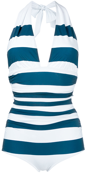 Dolce & Gabbana striped swimsuit.