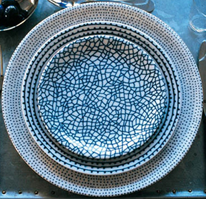 Driade The White Snow Agadir Plates designed by Paola Navone.