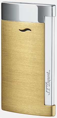 S.T. Dupont Brushed Gold Finish Lighter.