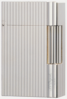 S.T. Dupont Gatsby Lighter - Silver Verticle Lines: US$725.