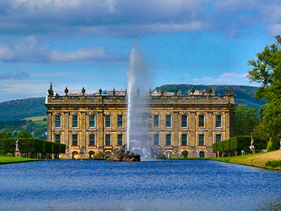 Emperor Fountain, Chatsworth House, Derbyshire, England.
