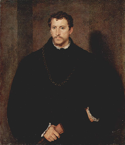 Portrait of a Young Englishman (Portrait of a Young Man with Grey Eyes) 1540–45 portrait by Titian.