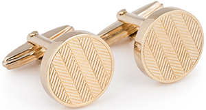 Façonnable Engraved Herringbone cufflinks: €95.