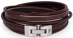 Façonnable leather bracelet: €95.