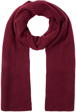 Falke men's Single-coloured scarf with ribbed structure: £179.