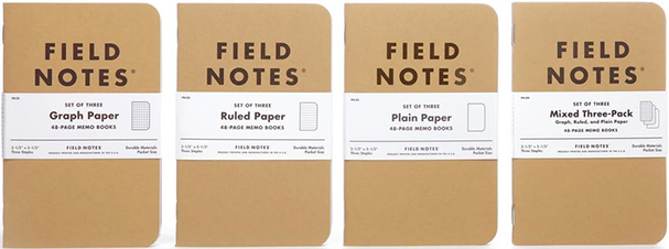 Field Notes 48-page memo books.