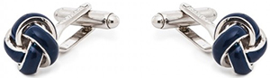 Figaret Paris blue and silver knot cufflinks: €95.