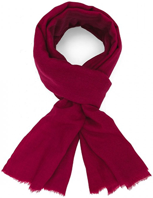 Figaret Paris plain pink women's scarf in wool: €115.