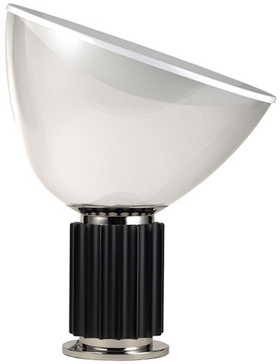 Flos Taccia 28W LED Floor or Table Lamp Black GLASS F6602030 Made in Italy Design Castiglioni 1962: US$2,095.