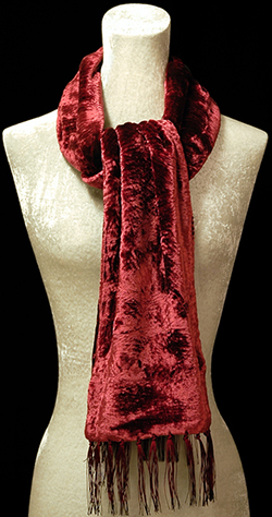 Fortuny furrowed velvet scarf: €147.
