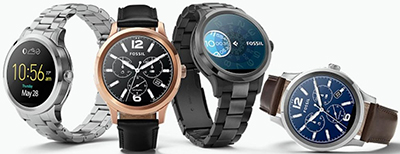 Fossil Q Founder Stainless Steel Touchscreen Smartwatch.