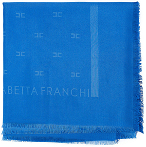 Elisabetta Franchi women's light rectangular scarf with logo: €132.