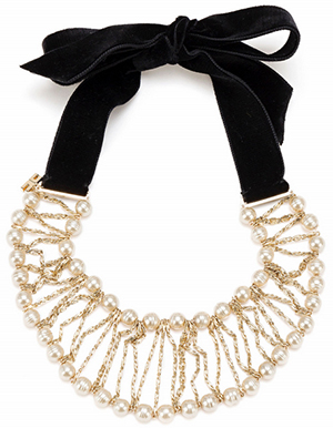 Elisabetta Franchi collar with pearls: €254.