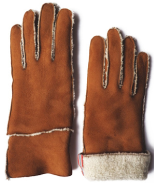Ines de la Fressange Paris Gaspard Gloves in Natural Sheepskin: €200.