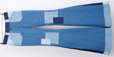 Ines de la Fressange Paris Janis Trouser in Blue Denim: €210.
