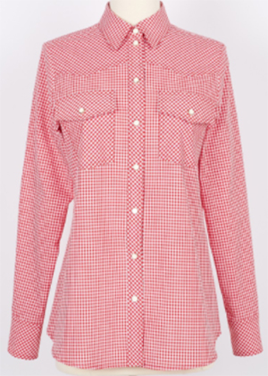 Ines de la Fressange Paris Farah women's Shirt in Red Gingham: €120.
