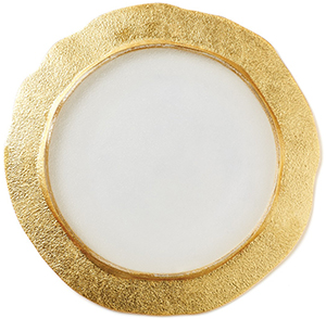 Vietri Rufolo Glass Gold Organic Salad Plate: US$30.