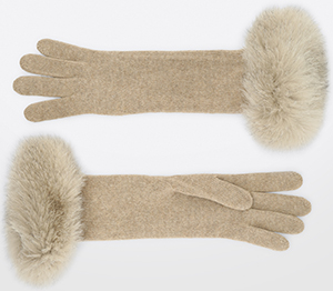 Max Mara women's wool & cashmere gloves: US$240.