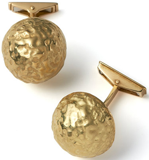Grima Jewellery 'Nugget' cufflinks.