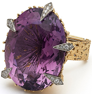 Grima Jewellery Amethyst ring.