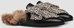 Gucci women's Princetown leather with bow slipper: US$1,890.