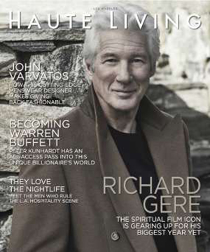 Haute Living luxury lifestyle magazine.